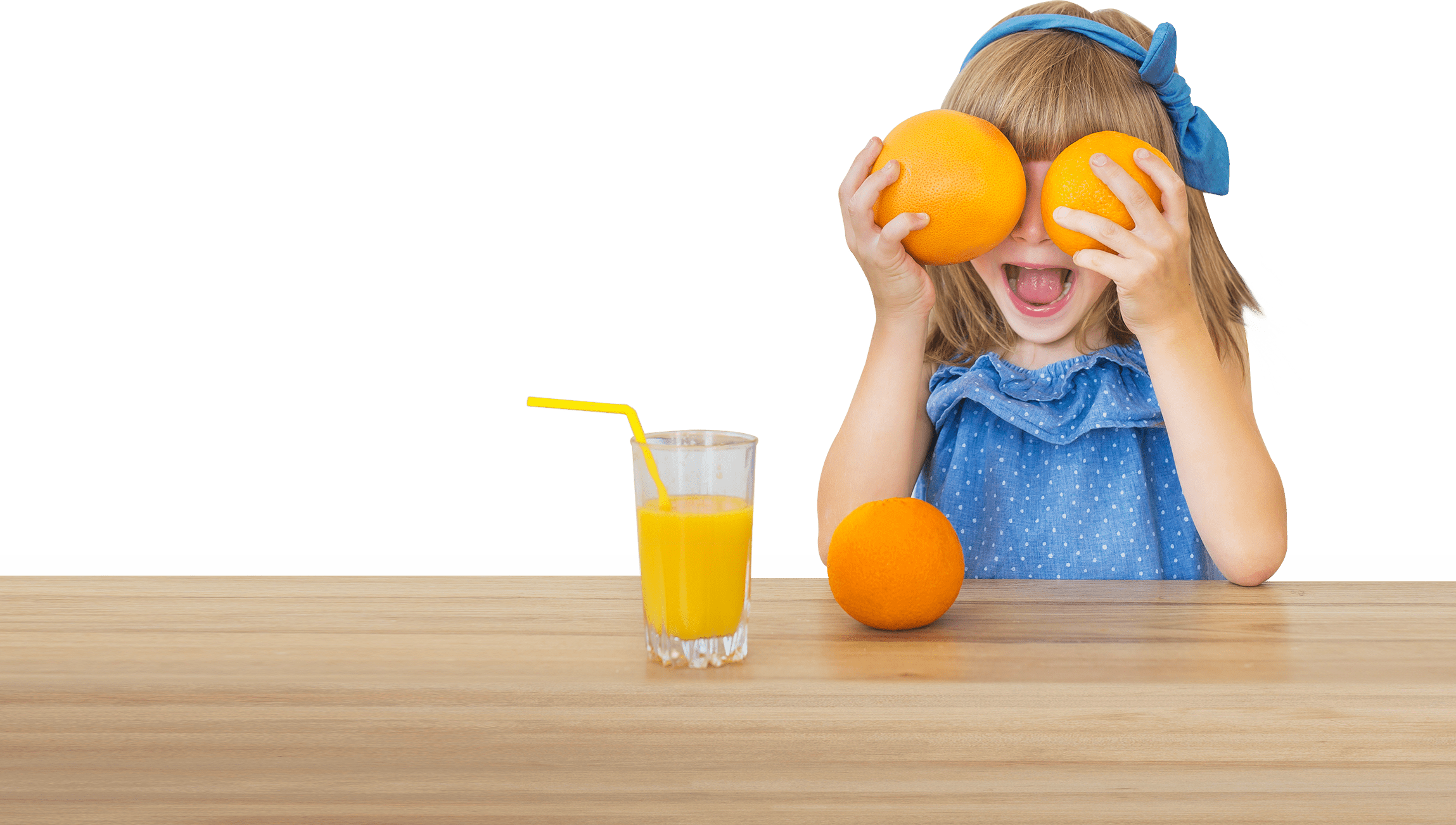 Girl with Oranges on her eyes