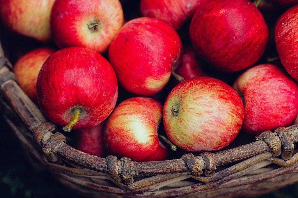 Organic Apples Basket